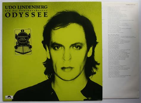 Udo Lindenberg Odyssey 1983 LP + Innerbag Rare Sticker On