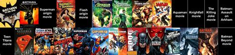 DC Animated Movies Continuity Timeline (New) by