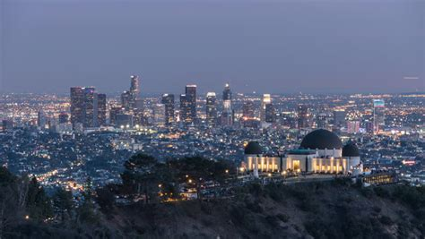Downtown Los Angeles and Griffith Stock Footage Video (100