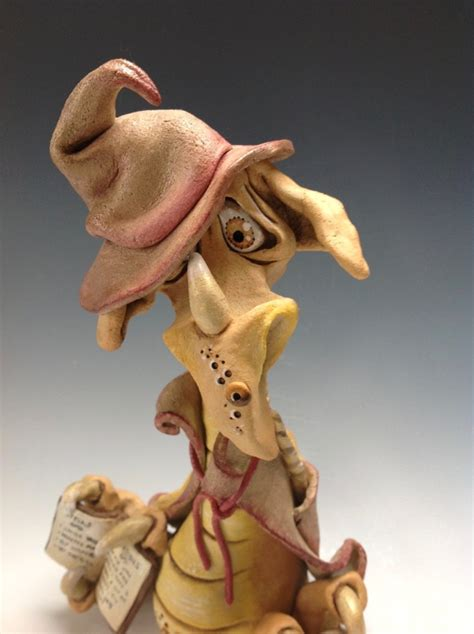 Whimsical Dragon Ceramic Sculpture by Lucy Kite