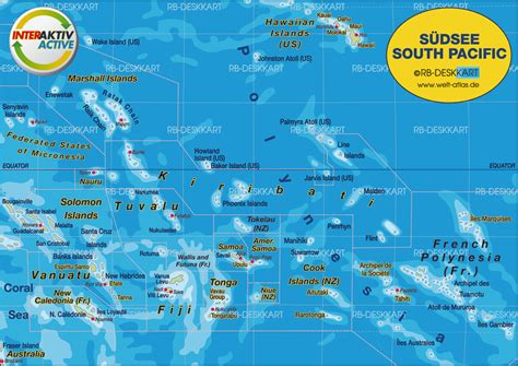 Map of South Pacific (Region in several states) | Welt