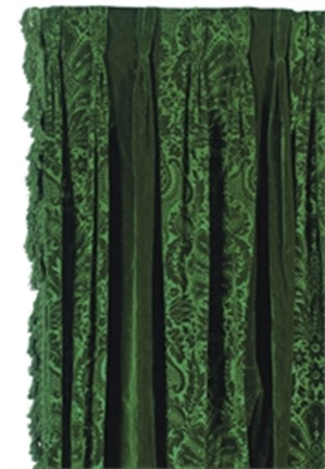 A PAIR OF EMERALD GREEN VELVET CURTAIN PANELS, , LATE 20TH