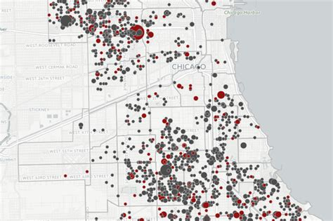 Where Shootings Have Occurred in Chicago Since 2010 (MAP