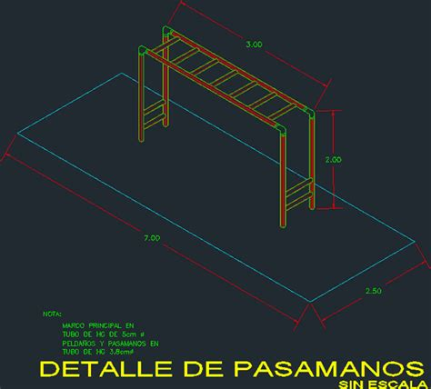 Monkey bars, climbing frame in AutoCAD | CAD (14
