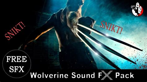 Cinematic Wolverine claws SNIKT sound effects pack 🎵 - YouTube