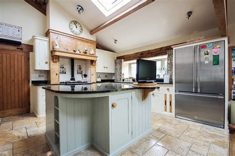 Exquisite hand painted kitchen cabinets in Lancashire