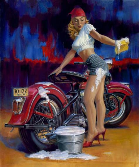 """""""Full Service"""" - Limited Editions - Vintage Pin-Up Series"""