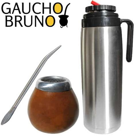 Natural Gourd, Bombilla and Flask Yerba Mate Starter Set