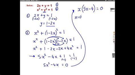 Harder Simultaneous Equations mathscast - YouTube