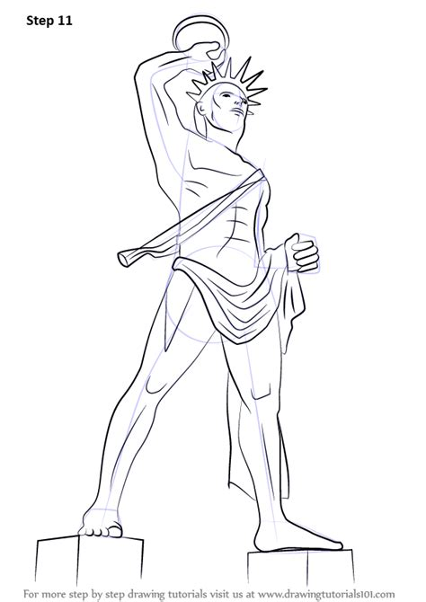 Learn How to Draw Colossus of Rhodes (Statues) Step by