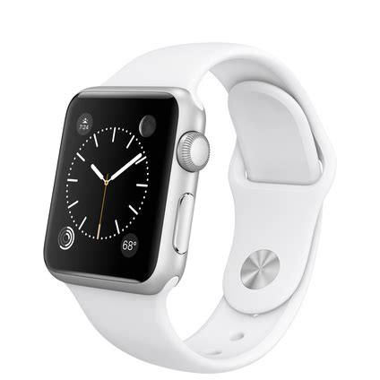 Buy Apple Watch Sport 38mm Silver Aluminum Case with White