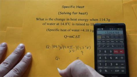 Specific Heat (Solving for Heat) - YouTube