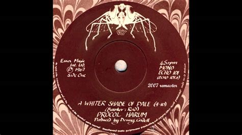 Procol Harum - A Whiter Shade of Pale (HQ) - YouTube