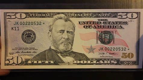 $50 Fifty Dollar Star Note Low Print Run