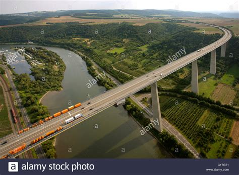 Aerial view, Moseltalbruecke, Moselvalley bridge, motorway