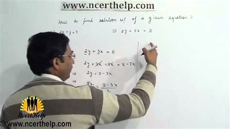 how to find the solution set of a system of linear