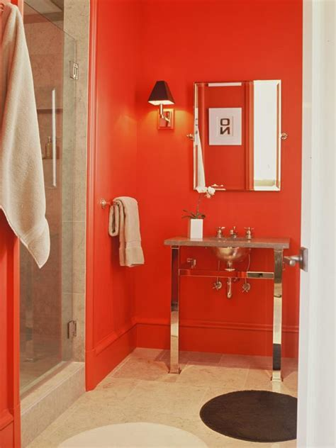 Red Bathroom Decor: Pictures, Ideas & Tips From HGTV | HGTV