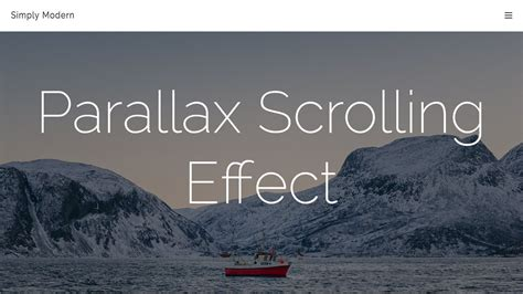 Parallax Scrolling Effect   With Javscript/jQuery & NO