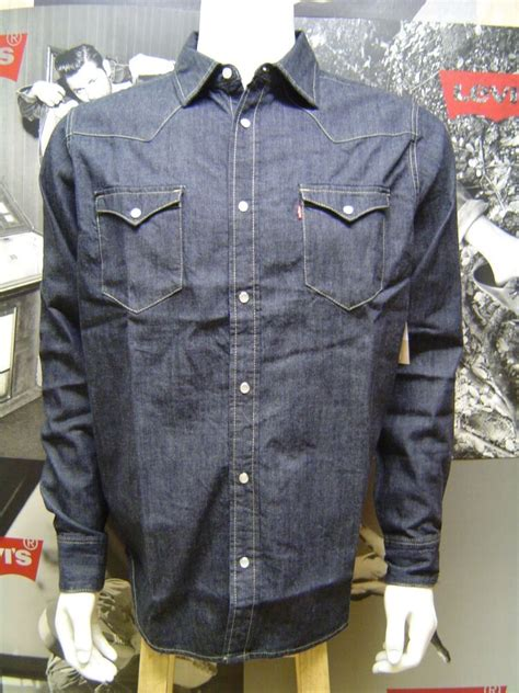 LEVI'S MEN'S BARSTOW WESTERN PEARL SNAP FRONT DENIM SHIRT