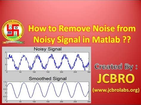 How to remove noise from noisy signal in Matlab? - YouTube