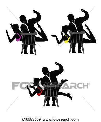 Clip Art of spanking k16583559 - Search Clipart