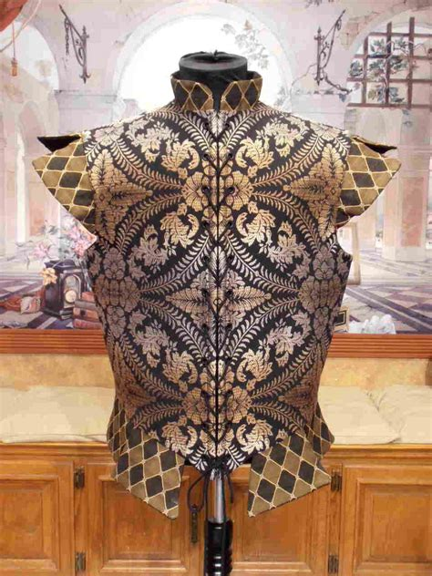 Black and Topaz Doublet, with or without sleeves   Faire