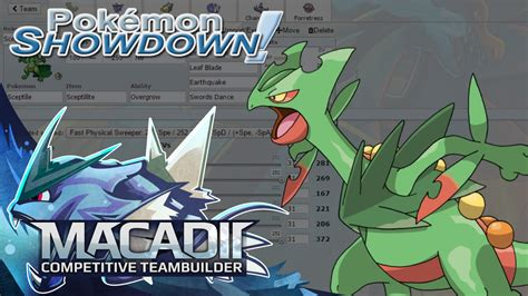 Mega Sceptile Pokemon Showdown UU Team Building w