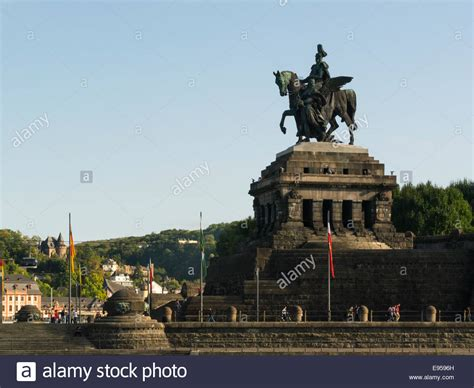 Huge equestrian statue Wilhelm 1 Deutsches Eck German