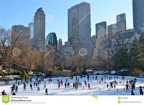 Christmas In Central Park, New York Stock Photo - Image