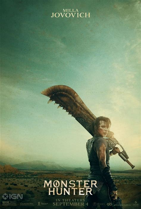 Monster Hunter movie posters show off Milla Jovovich's